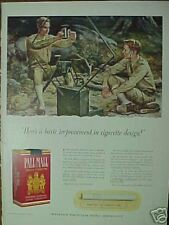 1941WWII Signal Core(FALTER)Art Pall Mall Cigarettes Ad