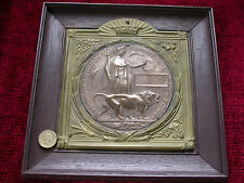 Replica Copy WW1 Unamed Memorial Plaque in Holder and Frame