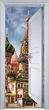 Sticker porte trompe l'oeil déco Palais Russe 90x200 cm réf 2144