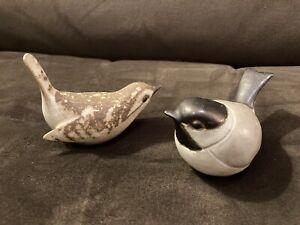 Nice Pair Andersen Design Studio Pottery Birds Figurines Each Great Design