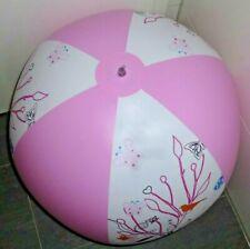 """Rarität: weiß/rosaner WASSERBALL von bud, D = 90cm / 36"""" flach"""