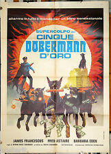 manifesto 2F film THE AMAZING DOBERMANS James Franciscus Fred Astaire 1977