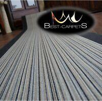 Runner Rugs, CARNABY grey, modern NON-slip, Stairs Width 67cm-100cm extra long