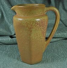 California Porcelain Lemonade Pitcher #303 Mottled Glaze Orange/Mustard/green NR