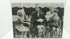 Vintage Repro Postcard The Queen With Children Prince Charles & Princess Anne