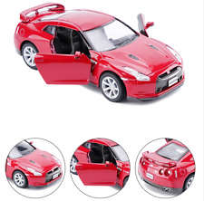 Nissan GTR R35 Model Cars 5 Inch Alloy Diecast 1:36 Toys Open  two doors Gifts