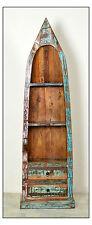 Bootsregal Riverboat, bunt lackiert, Schrank, 2 Schubladen, Altholz, Standregal