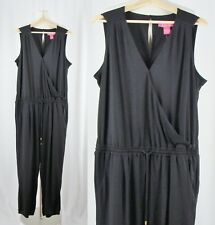 Catherine Malandrino XL Black Sleeveless Jumpsuit Pantsuit Romper