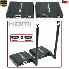50M Wireless HDMI Extender Transmitter Receiver IR Remote 5GHz Audio Video 1080p