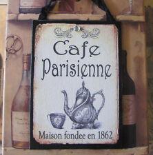 Paris CAFE SIGN Kitchen Decor Cofee Shop Tea Kettle PARIS Bakery French Vintage