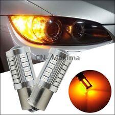 2x Amber 1156PY BAU15S PY21W LED Turn Stop Brake Reverse Backup Signal DRL Bulbs
