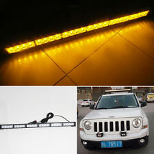 Amber 24 LED Bar Magnetic Warning Flash Strobe Hazard Emergency Traffic Lights