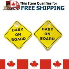 2pcs Baby on Board Warning Safety Sign Car Vehicle Window Vinyl New Suction Cup