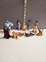 Disney Aladdin Toy Figure Lot Jasmine Jafar Genie Sultan Apu Rajah Lago & Carpet