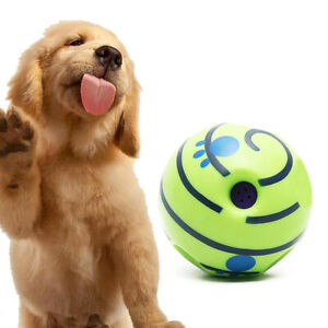 Funny Wobble Wag Giggle Ball Dog Play Training Pet Toy With  Sound Hot No Harm