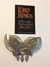 OFFICIAL LORD OF THE RINGS ARWEN EVENSTAR STERLING SILVER BUTTERFLY PIN BROOCH