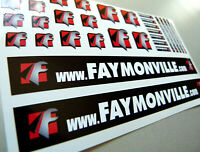 Set FAMONVILLE Trailer - Aufkleber 1:14 Sticker Tamiya Wedico Decal 1:16 068
