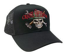 Crane Operator Beige Skull Construction Oilfield Roughneck Embroidered Mesh Cap