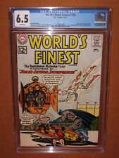 World's Finest #129 CGC 6.5 WHITE pages! (Looks GREAT!)12 HD pix Ships INSURED!