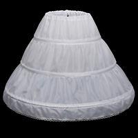 """21""""-26"""" Flower Girl Dresses Petticoat Crinoline Wedding Underskirt Slips 3 Hoops"""