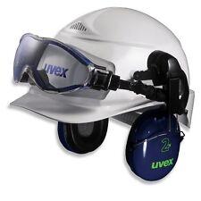UVEX Schutzbrille ultrasonic + airwing Schutzhelm ( Bauhelm Helm Helmbrille )