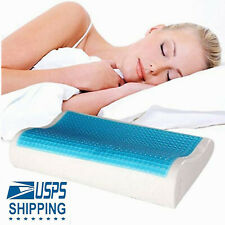 Memory Foam Bed Pillow With Cooling Gel Orthopedic Bed Pillows W/ Washable Cover