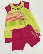Naartjie NWT 8 Years Flower Tee Knit Lace Trim Shorts Pieced Print Tunic Outfit