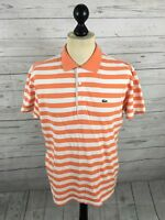 LACOSTE Polo Shirt - Size 4 Medium - Striped - Great Condition - Men's