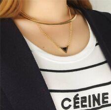 Alloy Triangle Pendant Gold Multi-layer Collar Necklaces