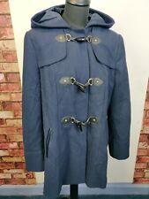 Ladies George winter blue coat hooded size 18 pockets button up warm Winter Wear