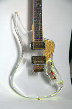 High Quality LED Light Electric Guitar 9Kinds LED Color Can Control Abalone Inla