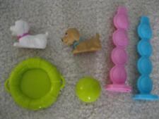 Barbie Doll Pet Shop 2010 Puppy Swim School Dog Golden White Pets Parts Lot