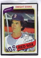 1980  DWIGHT EVANS - Topps Baseball Card # 405 - BOSTON RED SOX
