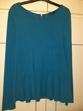 Teal French Connection Peplem Top Size XL 14-16
