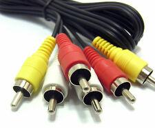 3 x spine fono RCA a 3 x spine fono RCA Composito & Audio Cavo Di Piombo, 1.5m