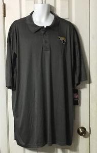 Majestic NFL Jacksonville Jaguars Big Tall Grey Polo Shirt Size 3XT NWT New