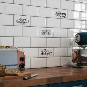 Kitchen Metro Brick Tile Decals, Stickers, Self adhesive vinyl,Slogan,Word,Funny