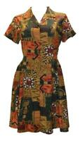 BLUEPORT LONDON VINTAGE STYLE RETRO MOSAIC EGYPTIAN BLOUSE DRESS