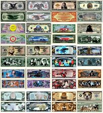 1000 Different Funny Money Fake Play Novelty Dollar Bill Notes with FREE SLEEVES