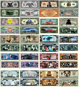 1000 Different Funny Money Play Novelty Dollar Bill Notes with FREE SLEEVES