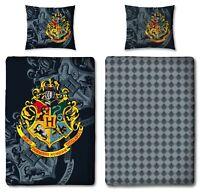Hogwarts Harry Potter Wende Bettwäsche Set 135x200cm 80x80cm 100% Baumwolle NEU