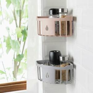 Bathroom Shower Corner Shelf Caddy Rack Organizer Adhesive No Drilling HOT
