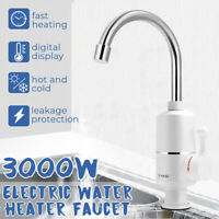 360° Electric Fast Instant Faucet Tap Hot Cold Water Heater Bathroom  U