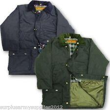enfants matelassé Cire Manteau 7-15 ans imperméable Country wear veste garçons