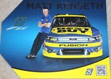 2012 Matt Kenseth Best Buy Blue # Silver Letters Ford Fusion NASCAR postcard