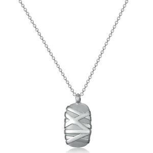 Collana uomo gioielli Brosway Stoneage pendente acciaio grigio satinato lucido