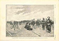 Soldats Armée de Chine/les Français de Yunnan-Sen Mission Française GRAVURE 1900