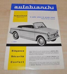 1960 Autobianchi Cabriolet Brochure Prospekt FR Edition