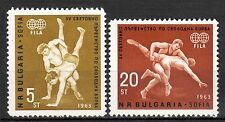 Bulgaria - 1963 Wrestling championship / Sport - Mi. 1383-84 MNH