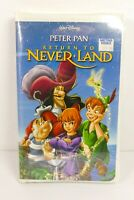 Return to Never Land (VHS, 2002) Disney Animation New Sealed Clamshell